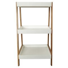 Leaning Three Tier Tray Shelf White