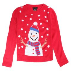Ikey & Mikey Boys Christmas Sweater Red Size 4-6X