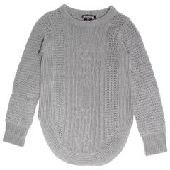 Margie Girls Cable Knit Crew Neck Sweater Size 7-14