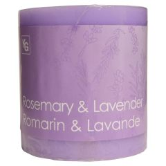 Rosemary & Lavender Pillar Candle Purple 3in