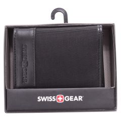 Swiss Gear Men's Leather Card Holder Black