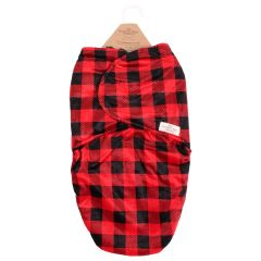 The Northern Wear Company Buffalo Plaid Infant Swaddle Bag Red