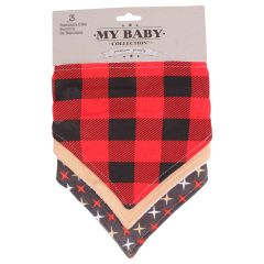 My Baby Collection Bandana Bibs 3Pk