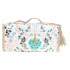 Floral Modella Makeup Bag with Brush Set