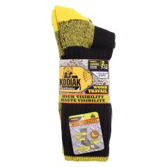 Kodiak Pathfinder Hi Vis Men's Work Socks 2Pk