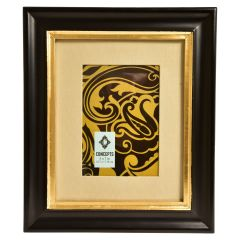 Concepts Photo Frame Black & Gold 5 x 7in