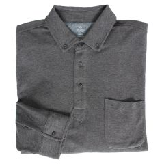 Long Sleeve Pima Cotton Polo Shirt