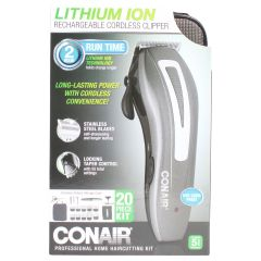 Conair Cordless Rechargeable Clipper Home Hair Cutting Kit
