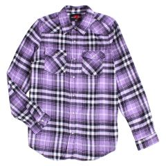 Women's Body 10der Flannel Plaid Snap Front Shirt