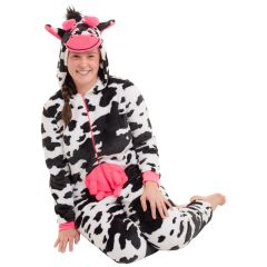 Women's Plush Cow Onesie
