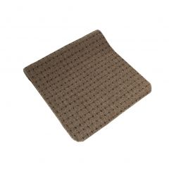 Decorative Tufted Pin Dot Floor Runner Brown 2 X 5ft
