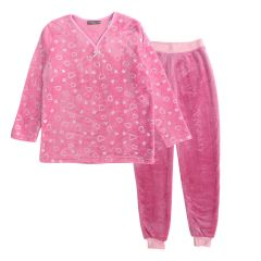 Melmat Collection Women's 2 Piece Loungewear Pajama Set Glitter