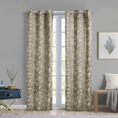 Huntington Pattern Curtain Panel With Grommets 2Pk