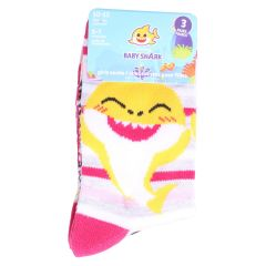Girls Baby Shark Crew Socks Size 5-7 3Pk