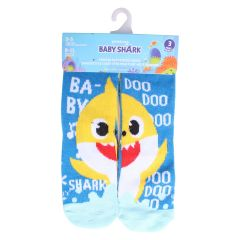 Boys Baby Shark Crew Socks Size 3-5 3Pk