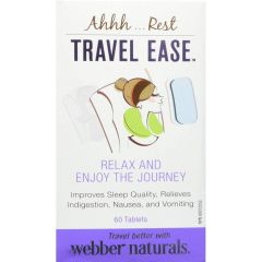 Webber Naturals Travel Ease Tablets 60