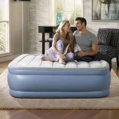 Beautyrest 17in Raised Hi-Loft Air Bed With Pump Queen Size *Refurbished*