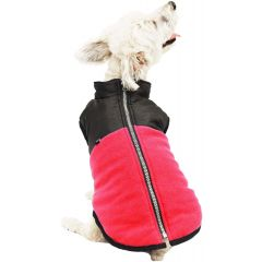 Hotel Doggy Fleece Zip Up Vest Red