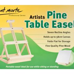 """Mont Marte Small Pine Table Easel 12"""" x 16"""" x 24"""" (30.5 x 41 x 60cm)"""