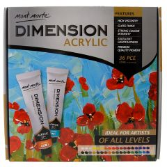 Mont Marte Dimension Acrylic Paint Set - 37ml each - 36 Pieces
