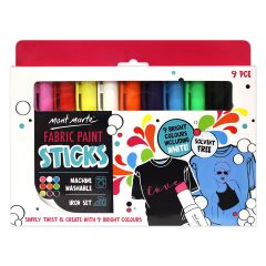 Mont Marte Fabric Paint Sticks - 9 Pack