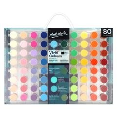 Mont Marte Vivid Colors Acrylic Paint Set 80 Pieces