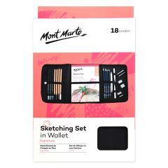 Mont Marte Sketching Set with Soft Carry Case - 18 Pieces