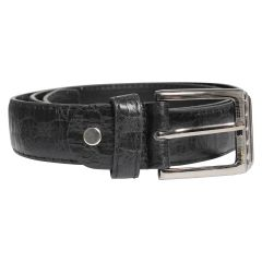 Textured Men's Belt Black