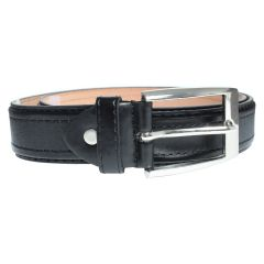 Fabric Detail Men's Belt Black