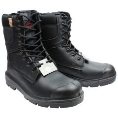 Ground Crew Leather Safety Work Boot Black - Size 7