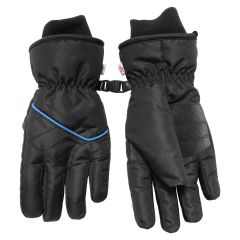 Hot Paws Boys Ski Gloves Black & Blue Size 8-16