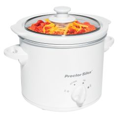 Proctor Silex Round 1.5 Quart Slow Cooker White