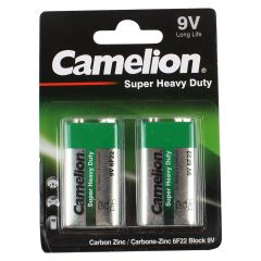 Camelion Heavy Duty Batteries 9V Long Life Pack of 2