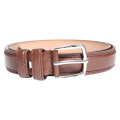 Stitched Men's Belt Brown