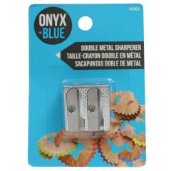 Onyx + Blue Double Metal Sharpener