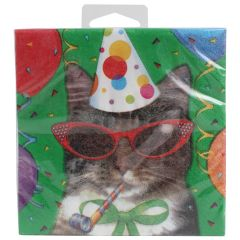 Amscan Birthday Cat Beverage Napkins 3 Ply