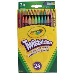 Crayola Twistable Coloured Pencils 24Pk