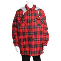 Big Valley Big And Tall Tartan Flannelette Shirt with Hood