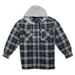 Big Valley Tartan Flannelette Shirt with Removable Hood