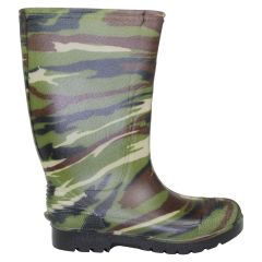 Boy's Rubber Rain Boots Camouflage