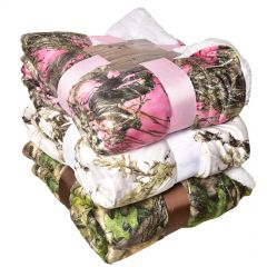 True Timber Outdoors Sherpa Lined Throws Fall Camo 50 X 60in