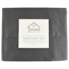Home Essentials 100% Cotton Sheet Set Queen Size Assorted Colours