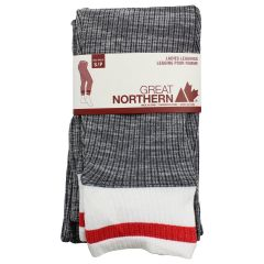 Great Northern Women's Cuffed Leggings Grey