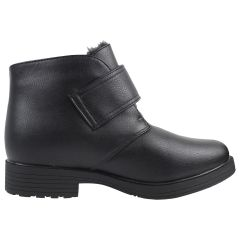 Canada Comfort Men's Velcro Winter Boot with Grip Black