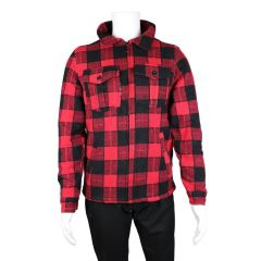 Navy Crew Co. Sherpa Lined Buffalo Plaid Jacket Red