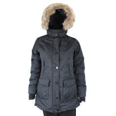 West Coast Connection Women's Parka Jacket With Removable Fur Hood Black