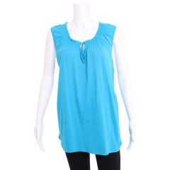 2 Dye 4 Plus Size Embroidered Tank Blue