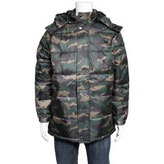 Hooded Puffer Jacket Camouflage
