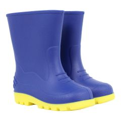 Kid's Rubber Rain Boots Blue