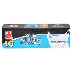 Tuff Guy Tall Kitchen bags With Handles White 10 Pk